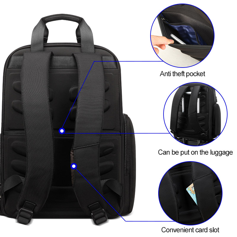 BOPAI New Back Pack Bags Men Multifunctional Business Travel Backpack Men 90 Degree Free Open 15.6 Inch Computer Laptop Backpack-in Backpacks from Luggage & Bags    2