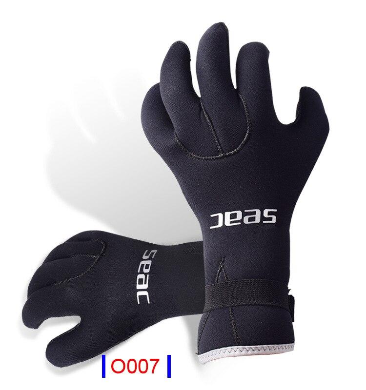 Blue Diving Gloves Neoprene Swimming Diving Gloves Neoprene Glove With The Magic Stick For Winter Swimming Warm,anti-slip