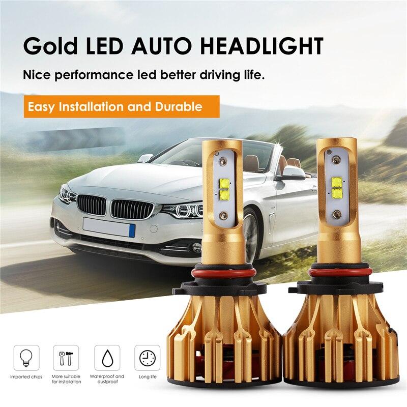 Auxmart Car LED Light 9005 HB3 9006 HB4 for Volkswagen Goif GT Jetta Passat LED Headlight
