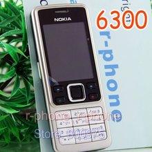 Мобильный телефон Nokia 6300, разблокированная Bluetooth Камера и клавиатура на английском, арабском и русском языках