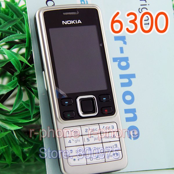 Original Nokia 6300 Mobile Phone Unlocked Bluetooth Camera & English Arabic Russian keyboard-in Cellphones from Cellphones & Telecommunications