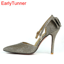 96cb17ee379ea1 Brand New Hot Sexy Black Gold Silver Women Sandals High Stiletto Heel Lady  Sparkly Party Shoes