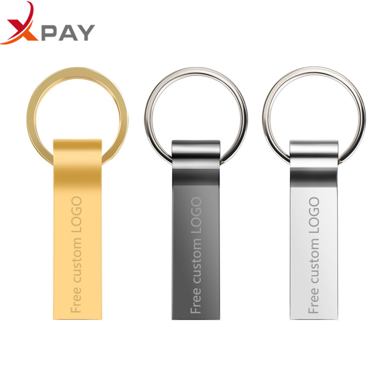 Image 2 - USB flash Drive 2.0 keychain 32GB Metal Waterproof Pendrive 64GB 128GB 8GB 4GB USB Stick Pen drive 16GB flash disk Free Logo-in USB Flash Drives from Computer & Office