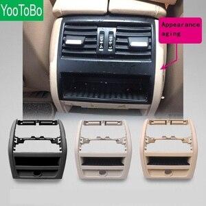 Image 1 - LHD RHD الخلفي التيار المتناوب مكيف الهواء تنفيس مصبغة الإطار الخارجي لوحة الداخلية ABS لوحة لسيارات BMW 5 سلسلة F10 F18 520 525 الأسود الراقية