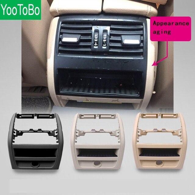 LHD RHD الخلفي التيار المتناوب مكيف الهواء تنفيس مصبغة الإطار الخارجي لوحة الداخلية ABS لوحة لسيارات BMW 5 سلسلة F10 F18 520 525 الأسود الراقية