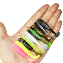 10pcs 55mm Artificial Fishing Lure Silicone Baits T Tail Soft Lure Wobblers Fishing Vivid Pike Bass Lure Fishing Tackle Sinking