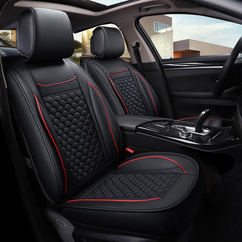Full Set Luxury GREY//BLACK Leather Look Car Seat Covers Daewoo Korando