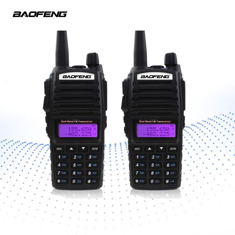 2-PCS BAOFENG UV-82 Talkie Walkie 5 w VHF UHF Émetteur-Récepteur De Poche Récepteur CB Radios FM Double PTT Ham Amateur Deux way Radio UV82