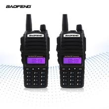 【Final claro out】2 PCS UV 82 5W VHF UHF Handheld Walkie Talkie BAOFENG Rádios CB Ham FM Dupla PTT amador Rádio em Dois Sentidos UV82