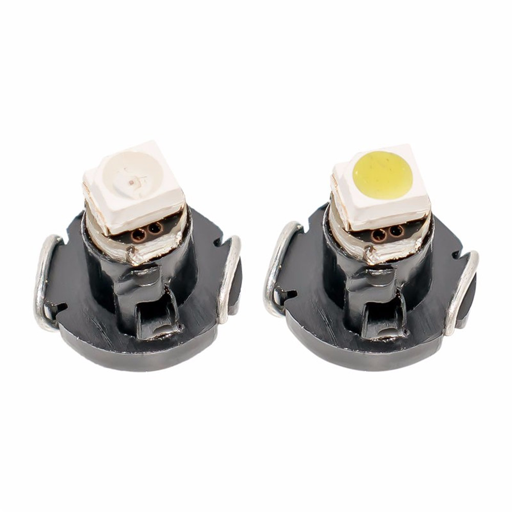 100Pcs T3 1LED 3528 1210 SMD Car Gauges Lights Auto Dashboard Instrument Light Dash Lamp Cluster Auto 12V DC Bulbs White/Yellow