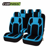 Car pass 5 Color 13PCS Full Seat Covers Extreme PU Leather Universal Car Seat Covers Protector Fit For Audi BMW Chrysler