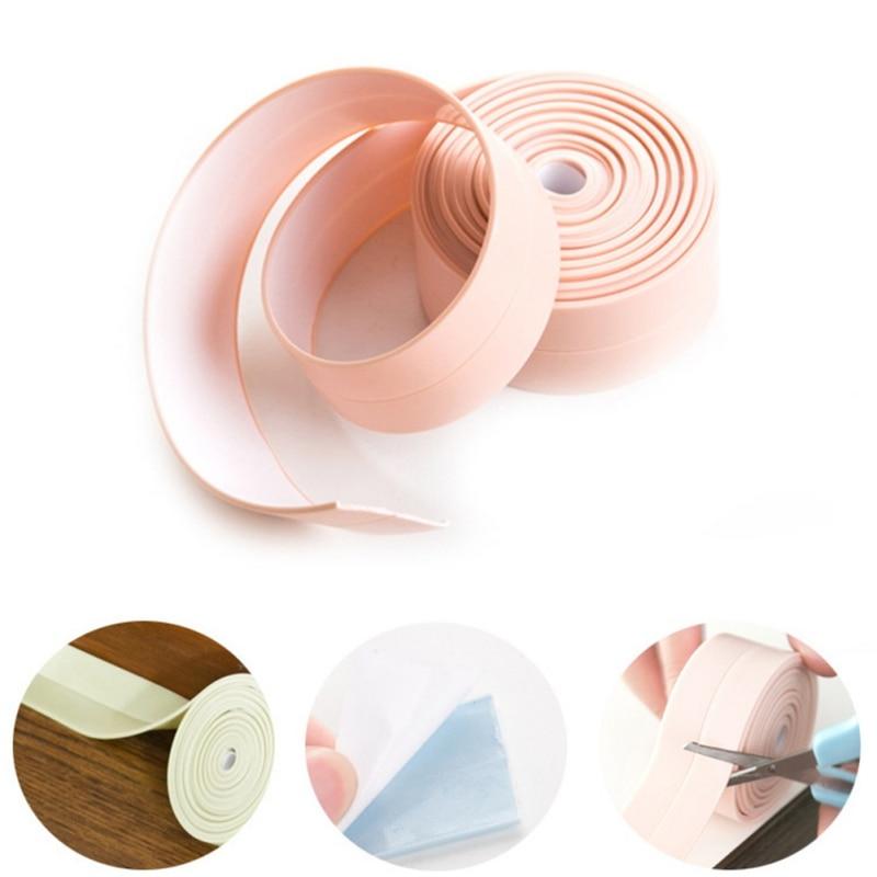Waterproof Mildew Proof Adhesive Tape Living Room Kitchen Sink Joint Crevice Sticker Bathroom Corner Line Sticking Strip Sticker