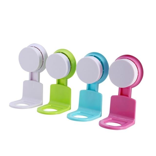 W Bathroom Wall Mounted Shower Gel Towel Shampoo Bottle Holder Super Suction Cup Seamless Kitchen