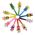 1PCS Random Color Colorful Cute Baby Rattles Kids Sound Musical Gifts Toddler Wooden Newborn Handbell Instrument Appease Toys