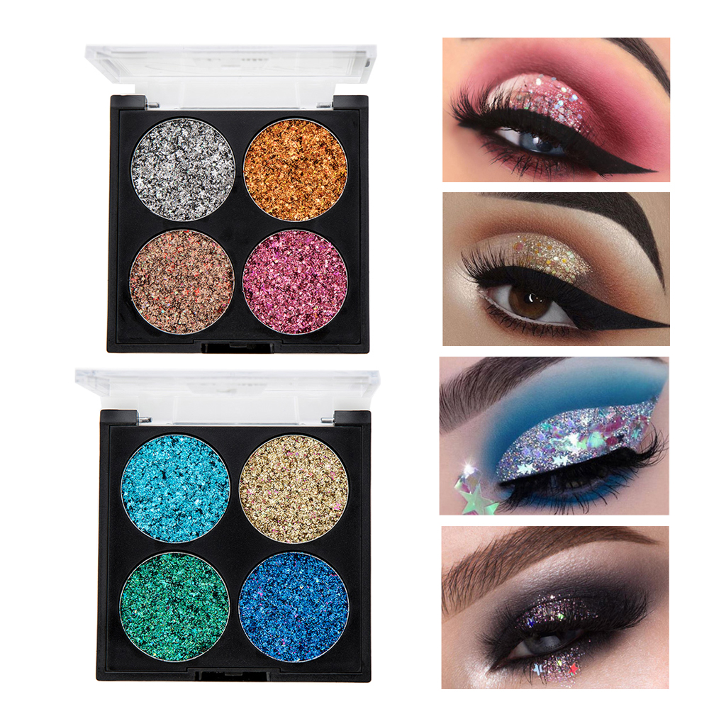 Beauty & Health 12 Color Glitter Eyeshadow Palette Shimmer Gold Shine Eyeshadow Glitter Shiny Eyeshadow Blue Eye Shadows Cosmetics Tool Diamond