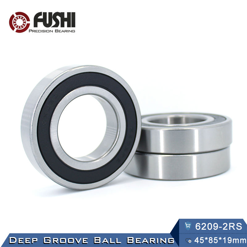 6209RS Bearing ABEC-3 (1 PCS) 45x85x19 mm Deep Groove 6209-2RS Ball Bearings 6209RZ 180209 RZ RS 6209 2RS EMQ Quality 6401 bearing size 12 x 42 x 13 mm 2 pcs heavy duty deep groove ball bearings 6401rs 6401 2rs