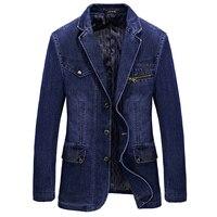 M 4XL Men Jacket And Coats Brand Clothing Denim Jacket Fashion Mens Jeans Jacket Spring And