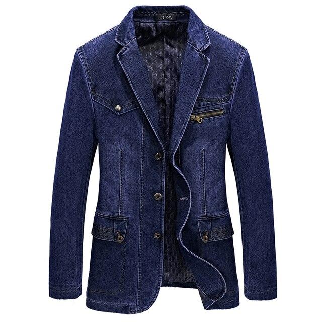 165e27dbbd13 M-4XL homens jaqueta e casacos marca jaqueta jeans Da Moda calças de brim  dos