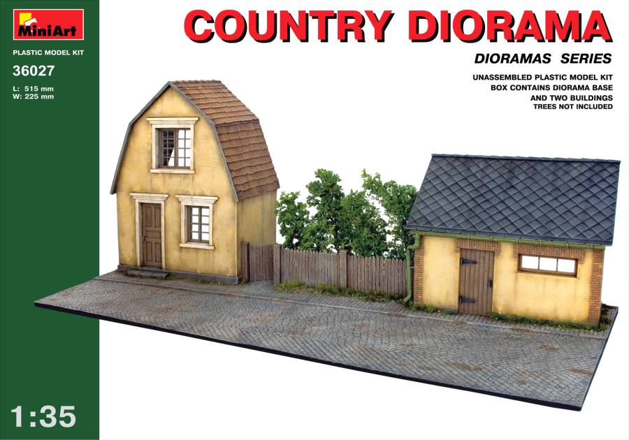 Out of print product! MiniArt 1/35 36027 Country Diorama Model Kit
