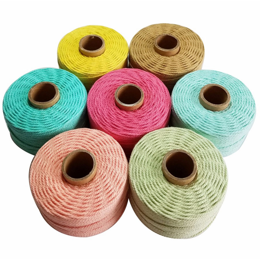 100% Cotton Rope 80m/roll Colorful Twine Macrame Cord String Thread For Party Wedding Decoration Accessory DIY