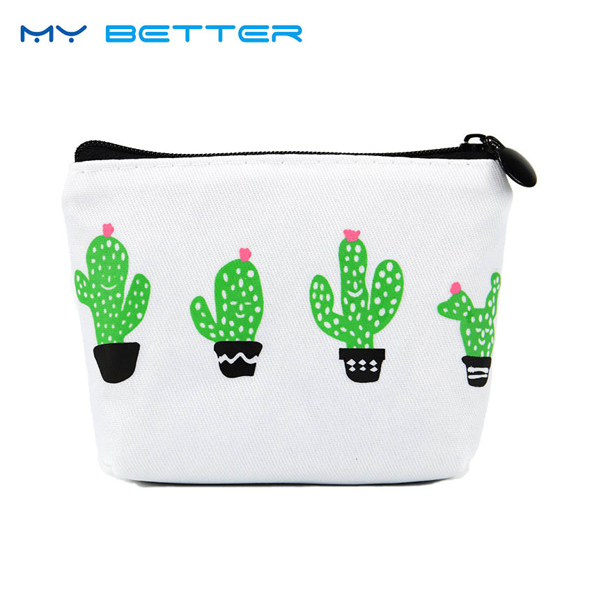 Mini Cactus Potted Coin Purses Cute Plant Wallet Small Zipper Money Bag Portable Key Coin Purse Bag