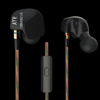 KZ HiFi Sport Headphones ATE ATR Copper Driver In Ear Earphones For Running With Microphone And