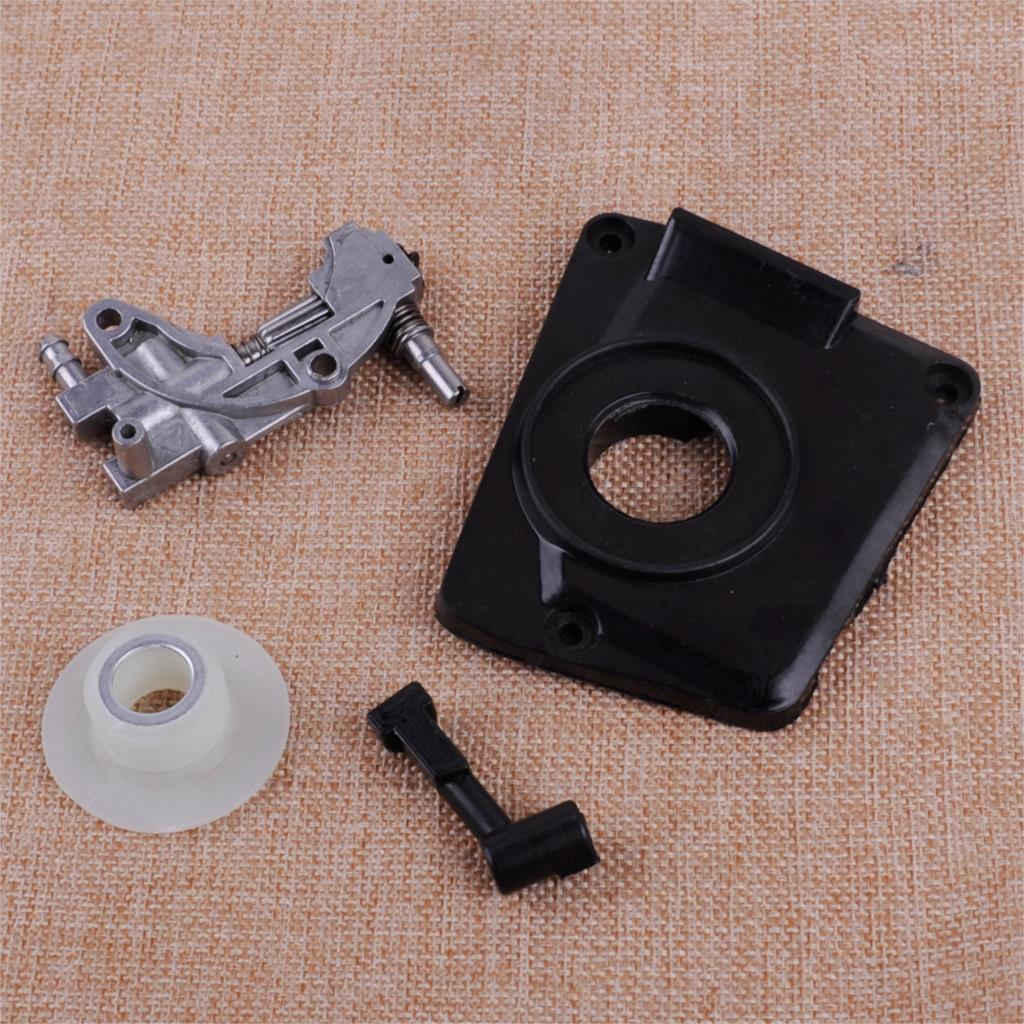 LETAOSK New Oil Pump Cover With Pipe And Worm Fit For Chinese 4500 5200 45cc 52cc Chainsaw