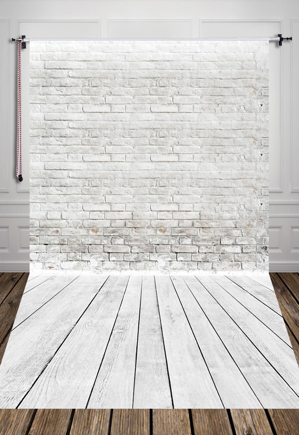 5x7ft (1.5x2.2m) white brick wall photography backdrop Art fabric newborn pet studio photography background D-3880