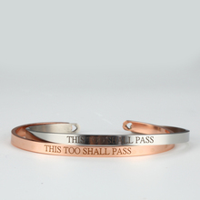 This Too Shall Pass Stainless Steel Bangle Engraved Positive Inspirational Quote fashion Cuff Mantra Bracelets For Women