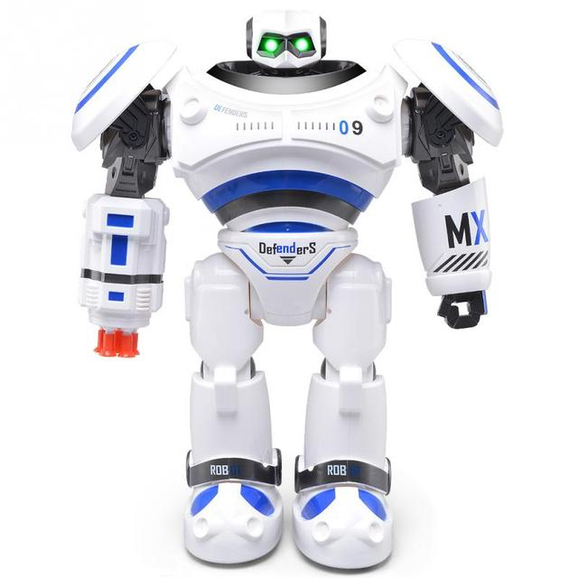JJR/C Intelligent Programmable Slide Walk Shoot Missile Dancing Infrared Control Robot