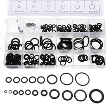225 pcs Rubber O Ring O-Ring Washer Seals Watertightness Assortment Different Size With Plactic Box Kit Set