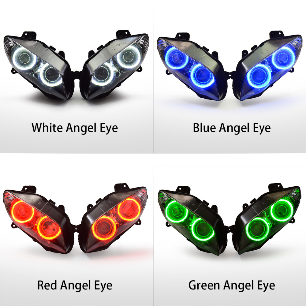 Kt Headlight For Yamaha Yzf R1 2004 2006 Led Angel Halo Eye Blue 2001 Wiring Harness Diagram Motorcycle Hid Projector Assembly 2005 On Alibaba Group