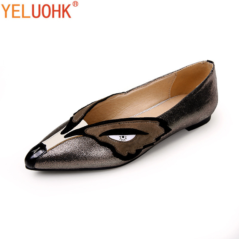 33-42 Women Genuine Leather Flat Shoes Women Loafers Moccasins Women Flat Shoes Spring Autumn Shoes Slip On 33 43 flat shoes women loafers soft leather moccasins women shoes flats comfortable spring autumn shoes pointed toe slip on