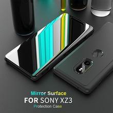 Miroir Smart View étui à rabat pour Sony Xperia XZ3 écran HD clair couverture complète sur Xperia XZ3 XZ 3 coques de téléphone Coque anti chocs Capa
