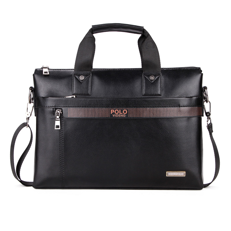 Fashion Brand PU Leather Men's Handbags Designer Man Zipper Handbag Dress Messenger Bag for Men Brown Black Color XB114NEW