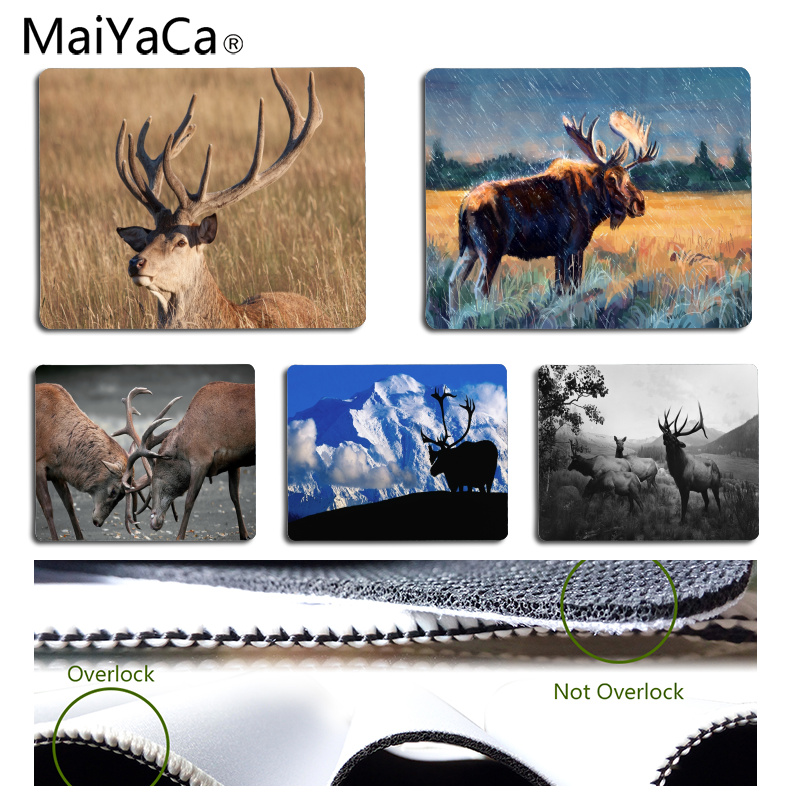 MaiYaCa Moose Customized MousePads Computer Laptop Anime Mouse Mat Size for 25x29CM Speed Version Gaming Mousepads