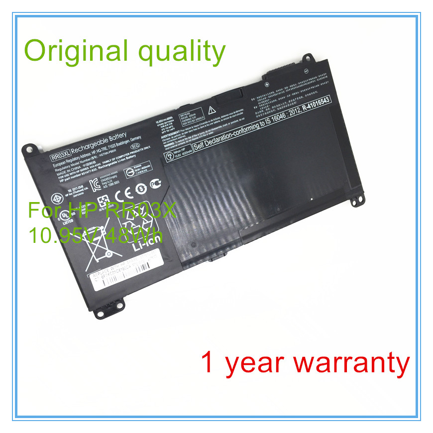 Original quality laptop batteries for RR03XL,851610-850,851477-541,HSTNN-UB7C,11.4V,6 cell original laptop batteries for zo04xl hstnn cs8c zbook studio g3 v8n23pa