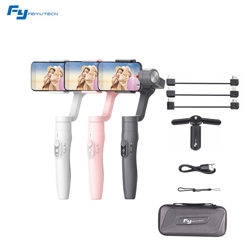 Feiyu Vimble 2 Selfie Stick Travel Gimbal Handheld Stabilizer for iPhone X 8 Plus 7 6 Samsung S9+ S9 S8+ S8 vs Zhiyun Smooth Q zhiyun smooth 4 3 axis handheld smartphone gimbal stabilizer vs zhiyun smooth q model for iphone x 8plus 8 7 6s samsung s9 s8
