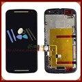 Черный Для Motorola Moto G2 XT1063 XT1064 XT1068 ЖК-Дисплей с Сенсорным Экраном Дигитайзер Рамка Полный Ассамблея + Инструменты Бесплатная Доставка