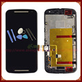 Black For Motorola Moto G2 XT1063 XT1064 XT1068 LCD Display with Touch Screen Digitizer Frame Full Assembly +Tools Free Shipping