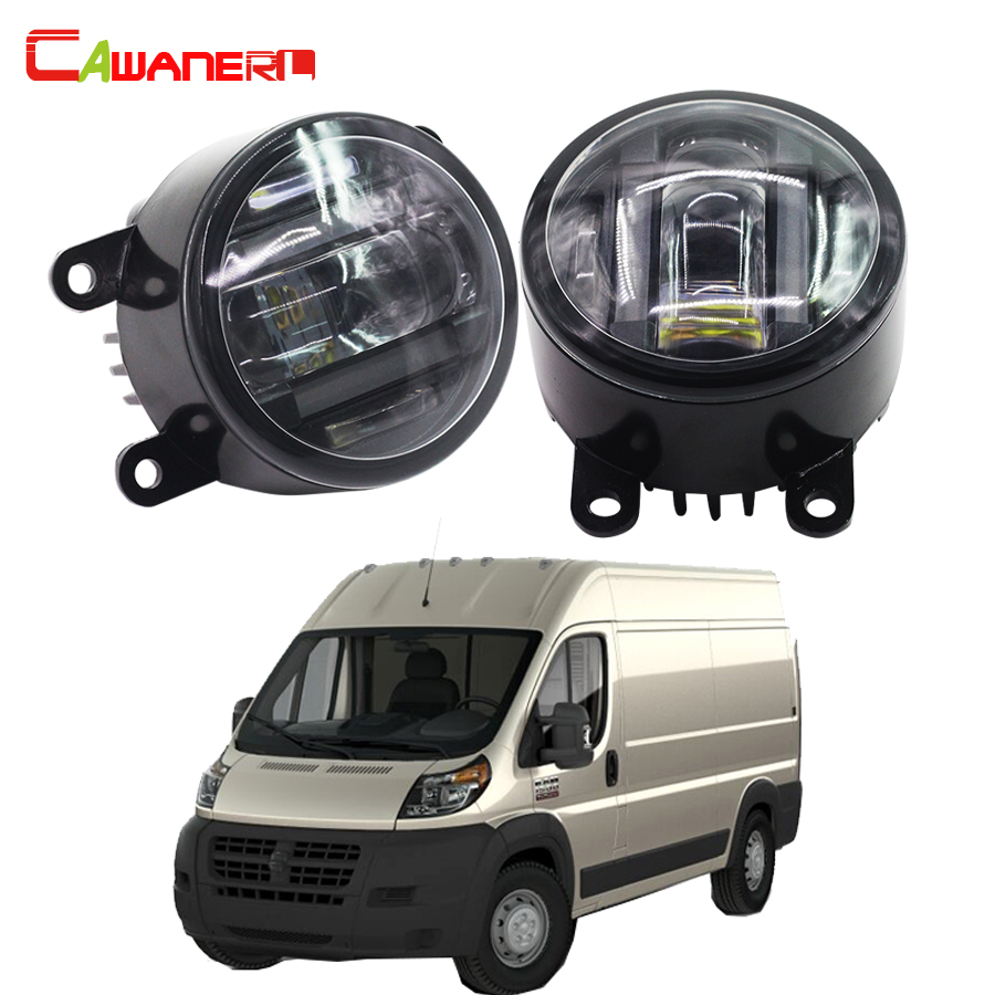 Cawanerl 2 X Car Accessories Front Fog Light LED Daytime Running Lamp DRL For Ram Promaster 1500 2500 3500 2014 cawanerl 2 x car led fog light drl daytime running lamp 12v white for toyota prius hatchback zvw3 1 8 hybrid 2009 onwards