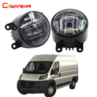 Cawanerl 2 X Car Accessories Front Fog Light LED Daytime Running Lamp DRL For Ram Promaster 1500 2500 3500 2014