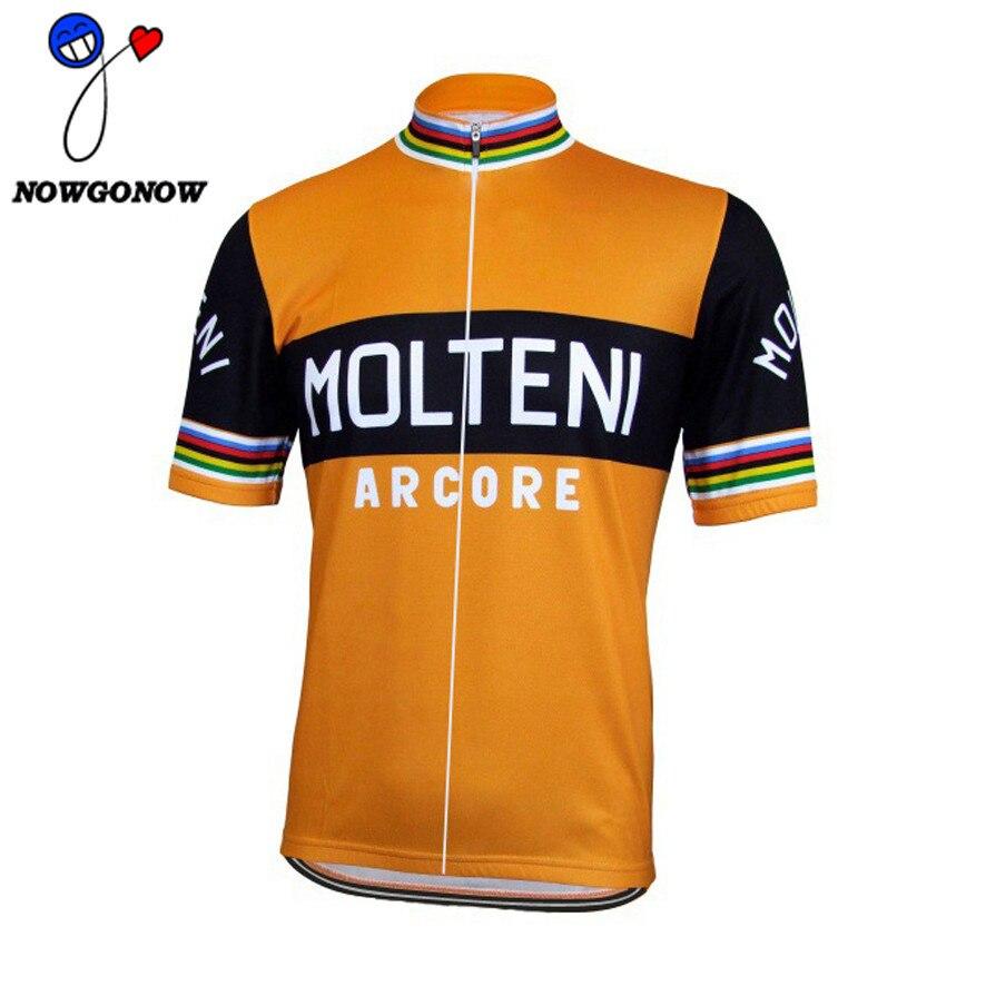 Prix pour Hommes 2017 Nouveau Rétro pro cycling team jersey Orange Respirant d'été vélo à manches courtes Vélo Clothing porter vélo ROUTE marque