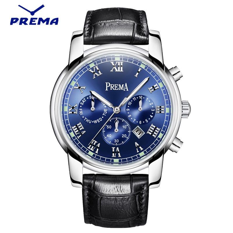 ФОТО PREMA 2016 Watch Men Luxury Top Brand New Fashion Men's Big Dial Designer Quartz Watch Male Wristwatch relogio masculino relojes