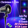 Waterproof IP65 Christmas Lights Outdoor RGB Laser Showers Projector Motion With IR Remote 20 Pattern Fairy