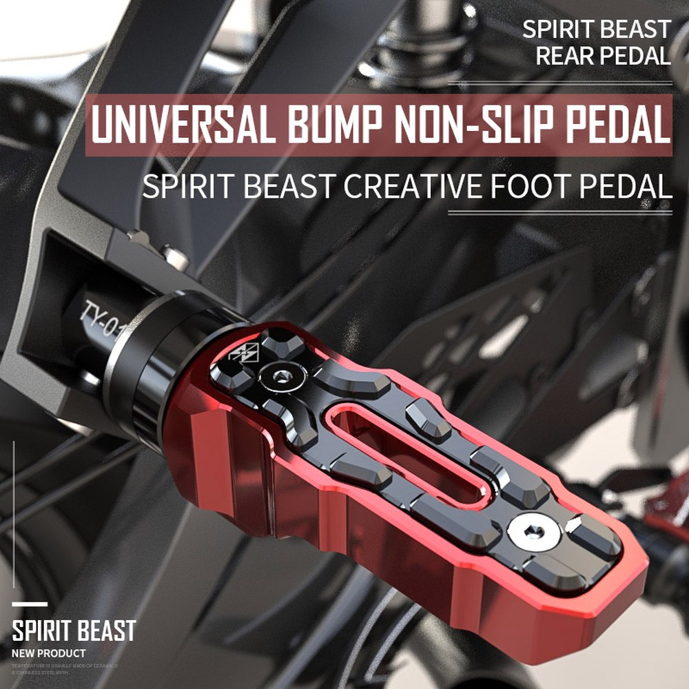 Spirit Beast Motorcycle Foot Rests Rear Pedal Motorbike for Honda Benelli Yamaha Hayabusa Bmw Triumph Harley