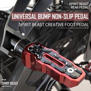 Image 1 - Geist Beast Motorrad Fußrasten Hinten Pedal Motorrad für Honda Benelli Yamaha Hayabusa Bmw Triumph Harley Kawasaki