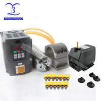 2.2KW Water Cooled Spindle Kit CNC Milling Spindle Motor 2.2KW VFD 80mm clamp water pump 13pcs ER20 for CNC Router