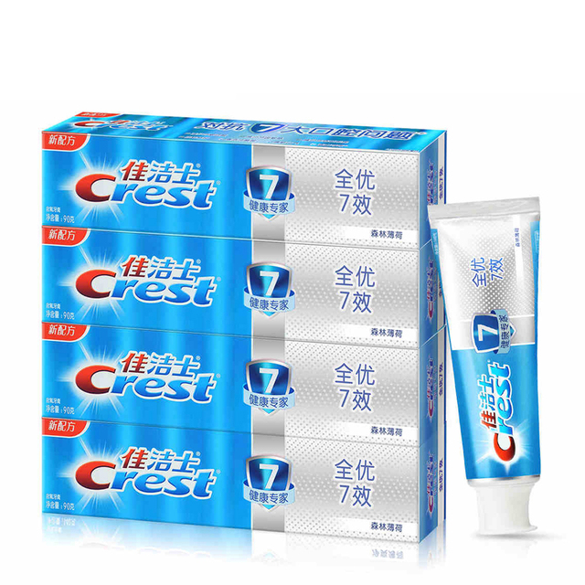 Crest deep clean toothpaste ultra white Complete multiple-effect teeth antibacterial Anti bad breath tooth Paste 90g*4pcs
