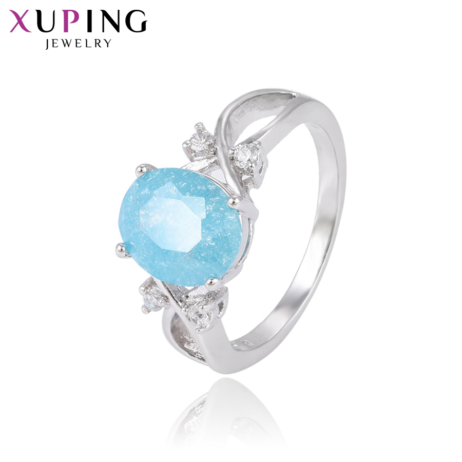 11,11 сделок Xuping Мода кольцо с окружающей среды Медь Ice камень украшения для Для женщин Рождество подарки S80, 1-14946